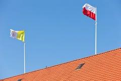 флаг польский vatican Стоковые Изображения