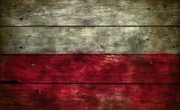 Флаг Польша на древесине Стоковые Фото