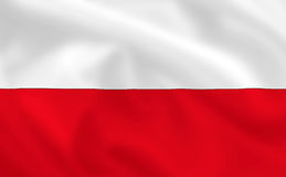 флаг Польша Стоковые Изображения RF