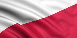 флаг Польша Стоковые Изображения