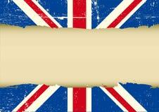 Флаг поцарапанный Великобританией Стоковые Изображения RF
