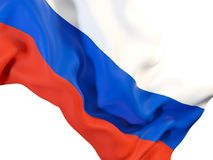 флаг предпосылки голубой flags развевать вектора России золота рамки Стоковое Фото