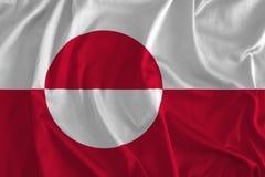 Флаг предпосылки Гренландии иллюстрация вектора