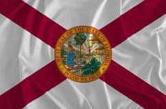 Флаг предпосылки Флориды, положения солнечности иллюстрация вектора