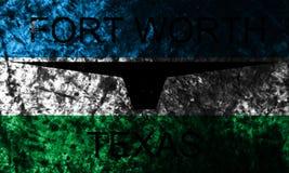 Флаг предпосылки grunge города Fort Worth, положение Техаса, Соединенные Штаты Америки стоковые фотографии rf