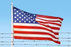Флаг проводов стоковое фото rf