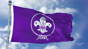 Флаг пурпура разведчика развевая иллюстрация вектора