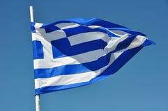Флаг развевать Греции стоковое фото rf