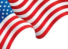 Флаг развевая в ветре, обои США флага иллюстрация вектора