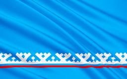 Флаг района Yamalo-Nenets автономного, Российской Федерации Бесплатная Иллюстрация