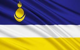 Флаг республики Бурятии, Российской Федерации бесплатная иллюстрация