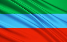 Флаг республики Дагестана, Российской Федерации иллюстрация штока