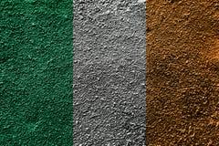Флаг Республики Ирландия на асфальте Стоковые Фотографии RF
