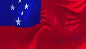 Флаг Самоа развевая в предпосылке петли ветра непрерывной безшовной иллюстрация штока
