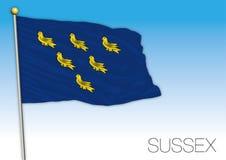 Флаг Сассекс, Великобритания, иллюстрация вектора бесплатная иллюстрация