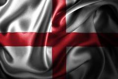 Флаг сатинировки Англии Silk Стоковая Фотография RF
