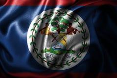 Флаг сатинировки Белиза Silk Стоковое Фото