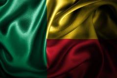 Флаг сатинировки Бенина Silk Стоковое фото RF