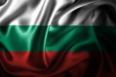 Флаг сатинировки Болгарии Silk Стоковое фото RF