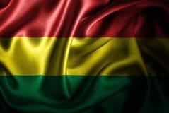 Флаг сатинировки Боливии Silk Стоковая Фотография