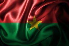 Флаг сатинировки Буркина Фасо Silk Стоковые Изображения RF