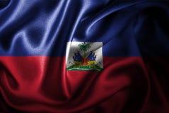 Флаг сатинировки Гаити Silk Стоковое Изображение