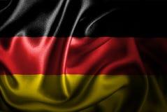 Флаг сатинировки Германии Silk Стоковые Изображения RF