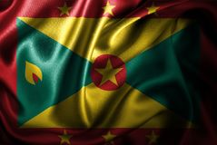 Флаг сатинировки Гренады Silk Стоковое Изображение RF