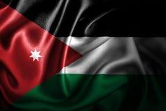 Флаг сатинировки Джордана Silk Стоковая Фотография RF