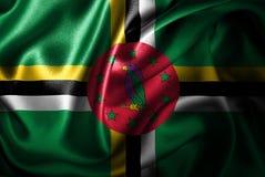 Флаг сатинировки Доминики Silk Стоковые Фото