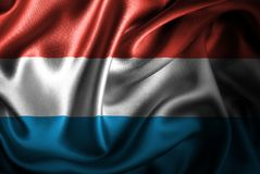 Флаг сатинировки Люксембурга Silk Стоковое Изображение