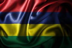 Флаг сатинировки Маврикия Silk Стоковые Изображения RF