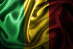 Флаг сатинировки Мали Silk Стоковое Изображение RF