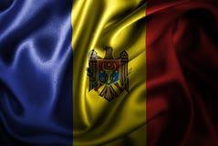 Флаг сатинировки Молдавии Silk Стоковое фото RF