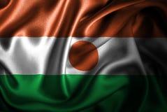 Флаг сатинировки Нигера Silk Стоковое Фото