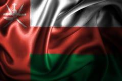 Флаг сатинировки Омана Silk Стоковые Изображения