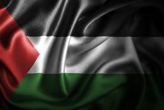 Флаг сатинировки Палестины Silk Стоковая Фотография RF