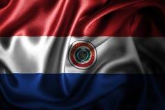 Флаг сатинировки Парагвая Silk Стоковые Фотографии RF