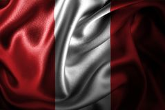 Флаг сатинировки Перу Silk Стоковые Изображения RF
