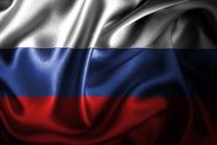 Флаг сатинировки России Silk Стоковое Фото