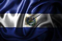 Флаг сатинировки Сальвадора Silk Стоковая Фотография RF