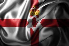Флаг сатинировки Северной Ирландии Silk Стоковые Фото