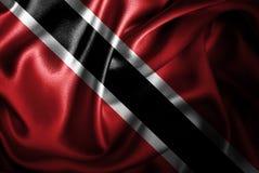 Флаг сатинировки Тринидад и Тобаго Silk Стоковые Изображения
