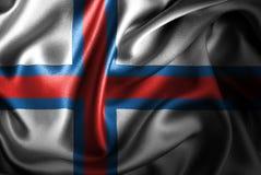 Флаг сатинировки Фарерских островов Silk Стоковые Изображения