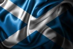 Флаг сатинировки Шотландии Silk Стоковые Фото