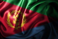 Флаг сатинировки Эритреи Silk Стоковые Изображения RF