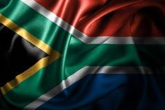 Флаг сатинировки Южной Африки Silk Стоковое Изображение