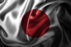 Флаг сатинировки Японии Silk Стоковое Изображение RF