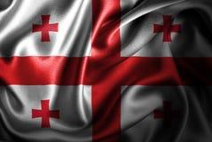 Флаг сатинировки Georgia Silk Стоковые Фото