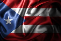 Флаг сатинировки Purerto Rico Silk Стоковое фото RF